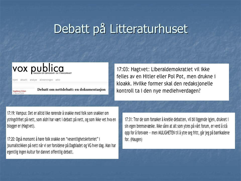 Debatt på Litteraturhuset