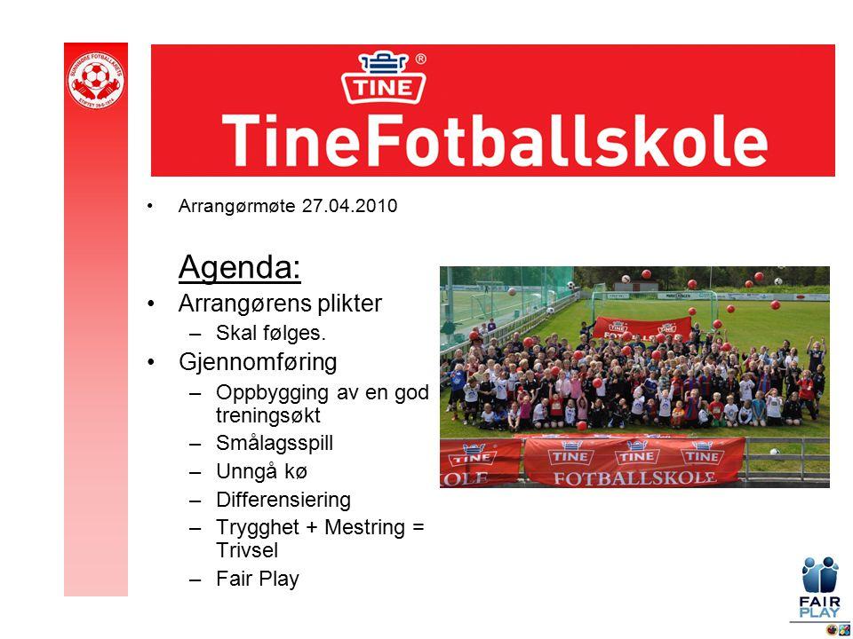 Arrangørmøte 27.04.2010 Agenda: Arrangørens plikter –Skal følges.