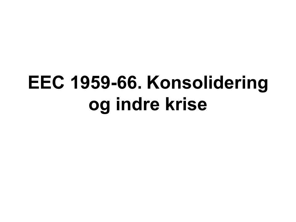 EEC 1959-66. Konsolidering og indre krise