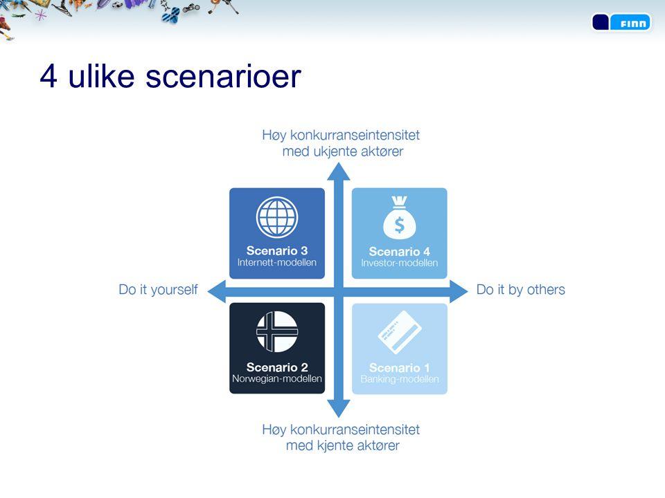 4 ulike scenarioer