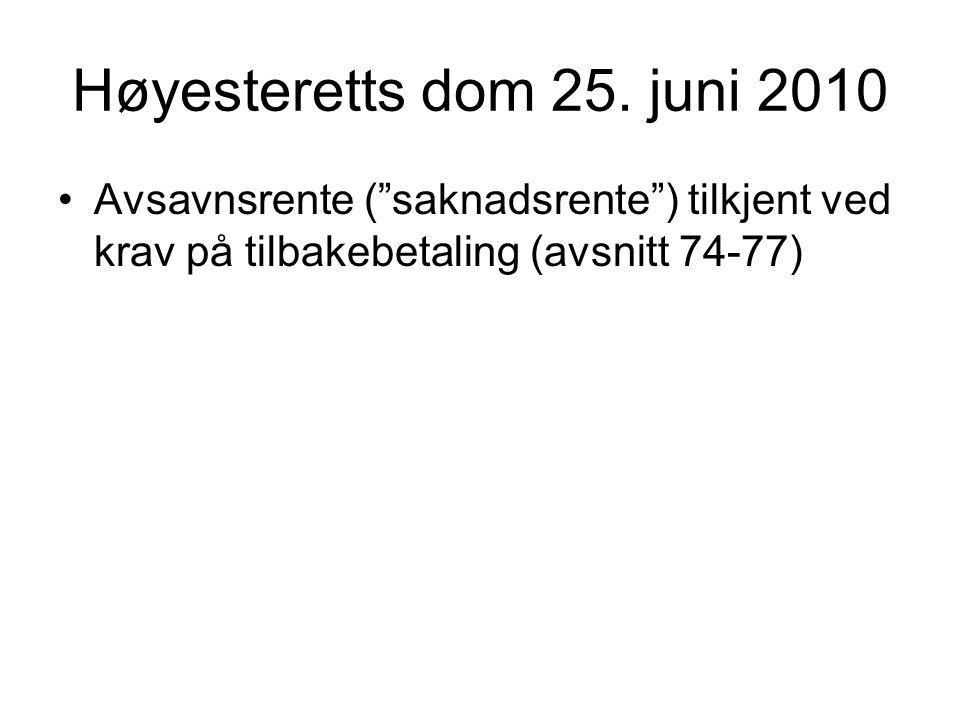 Høyesteretts dom 25.