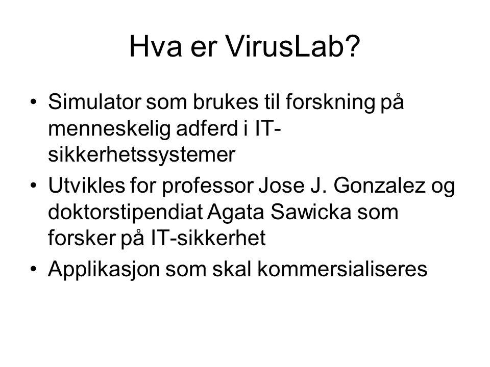 VirusLab strukturen