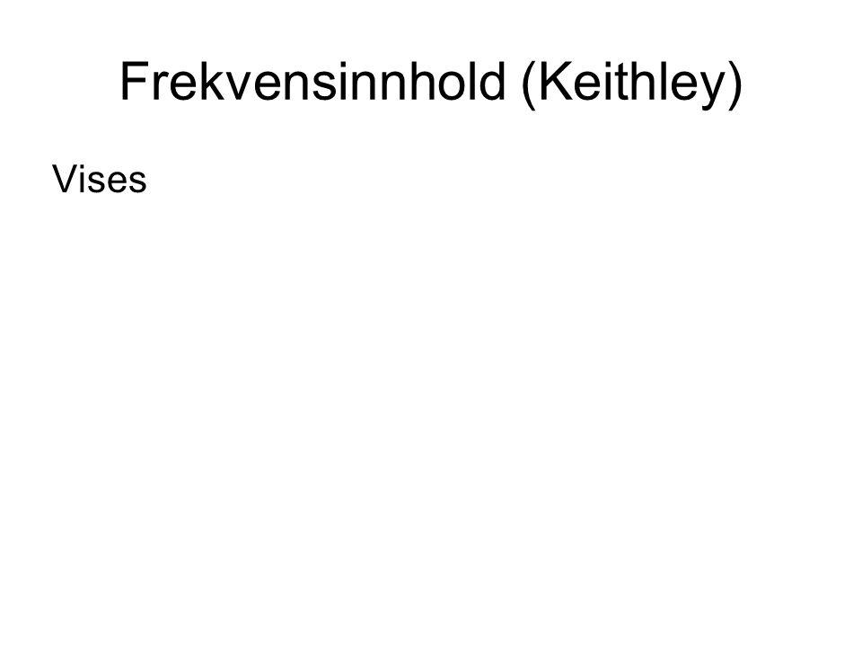 Frekvensinnhold (Keithley) Vises