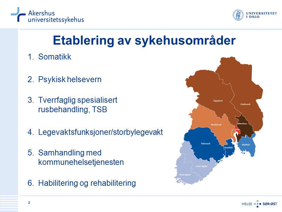 13 Resultatmål 1.Det etableres i felles, helhetlige og sammenhengende pasientforløp inn og ut fra sykehuset, der en legger til rette for at helsehjelp kan gis med høy kvalitet på laveste effektive omsorgsnivå 2.Lokalbaserte spesialisthelsetjenester videreutvikles og etableres i samarbeid med kommunene 3.Det etableres hensiktsmessige samarbeidsorgan og samarbeidsavtaler mellom Ahus og nåværende kommune/bydeler i opptaksområdet og nye kommuner/bydeler