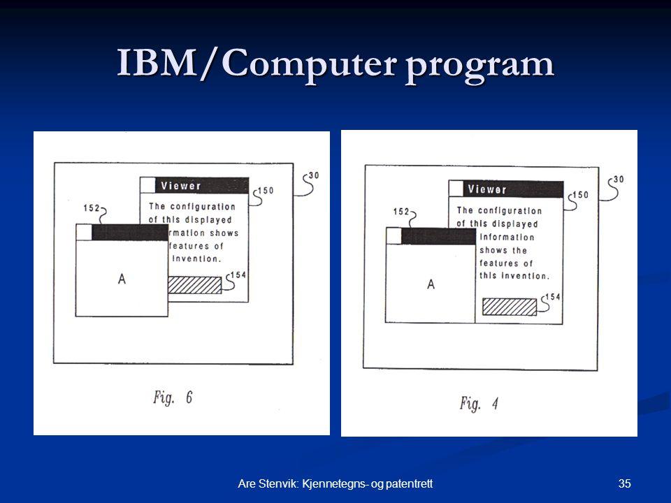 35Are Stenvik: Kjennetegns- og patentrett IBM/Computer program