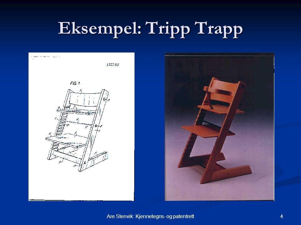 4Are Stenvik: Kjennetegns- og patentrett Eksempel: Tripp Trapp