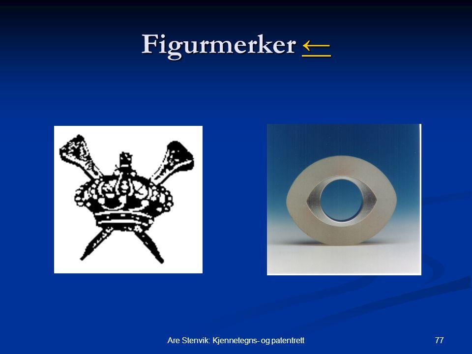 77Are Stenvik: Kjennetegns- og patentrett Figurmerker ← ←