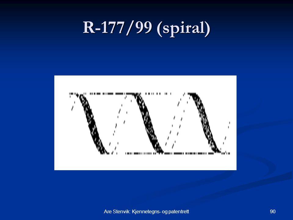 90Are Stenvik: Kjennetegns- og patentrett R-177/99 (spiral)