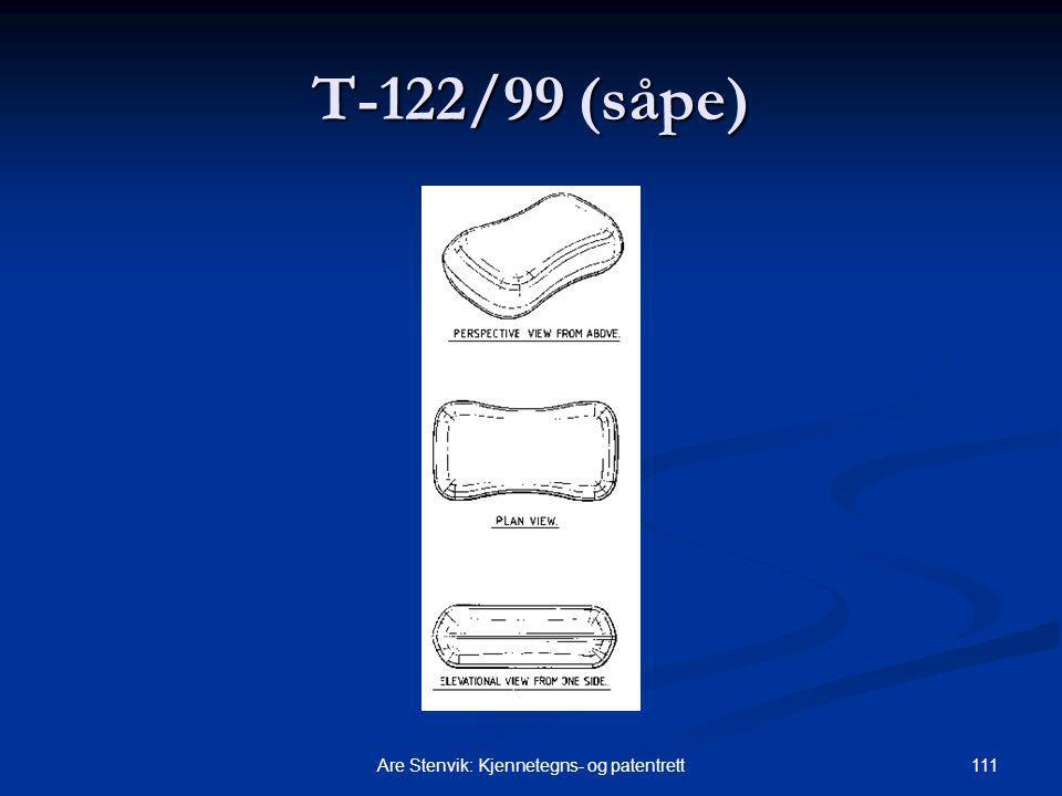 111Are Stenvik: Kjennetegns- og patentrett T ‑ 122/99 (såpe)