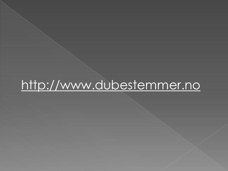 http://www.dubestemmer.no