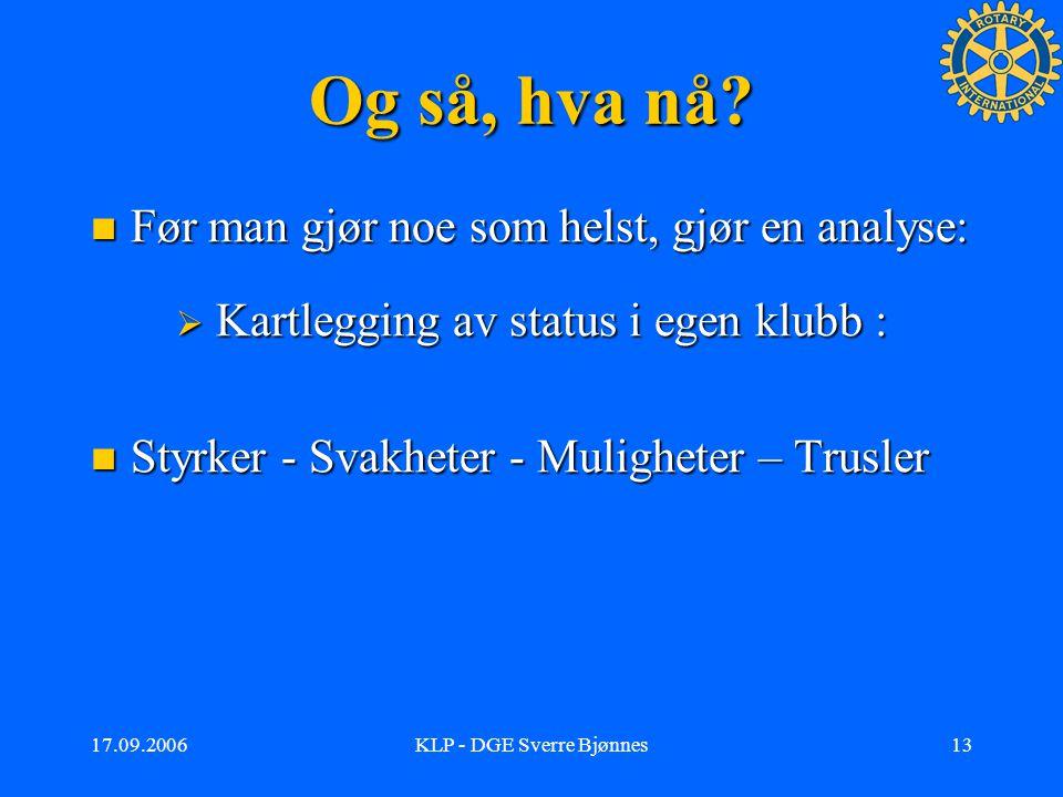 17.09.2006KLP - DGE Sverre Bjønnes12 Hva er fordelene med KLP.