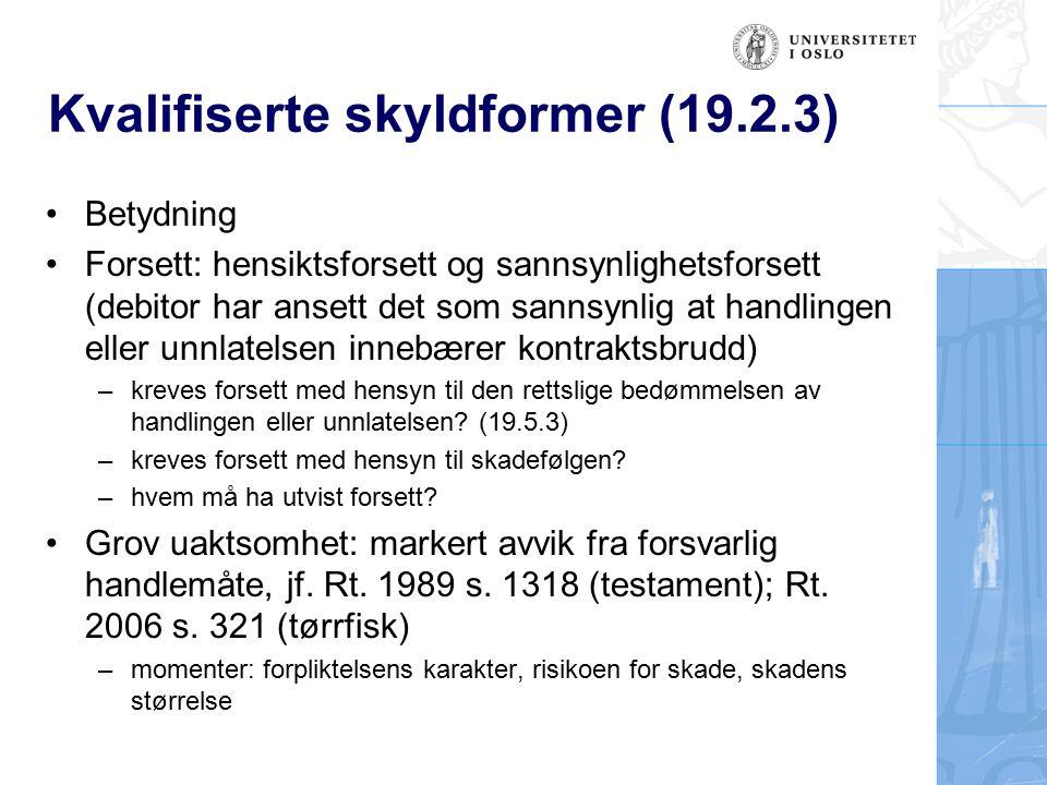 Ansvaret for kontraktshjelpere (19.3) Ansvar for arbeidstakere, jf.