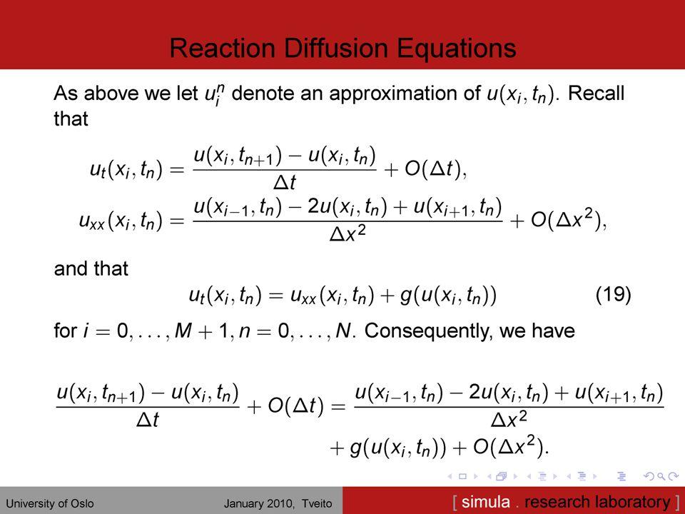 14 Randverdiproblem i 1D u''(x) = f(x), u(0) = u(1) = 0.