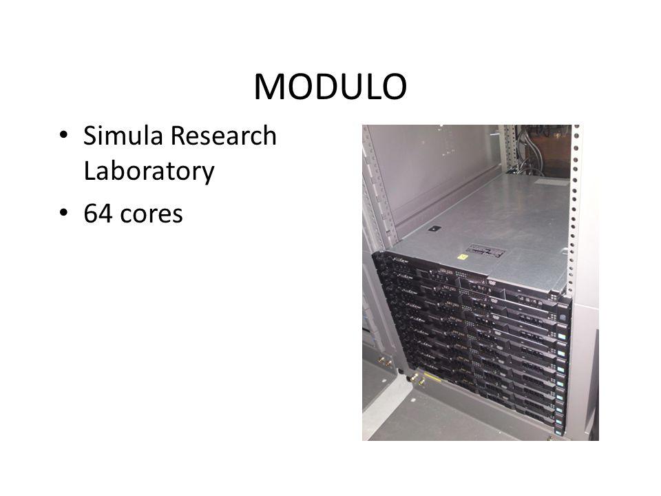 MODULO Simula Research Laboratory 64 cores