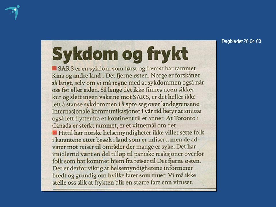 Dagbladet 28.04.03