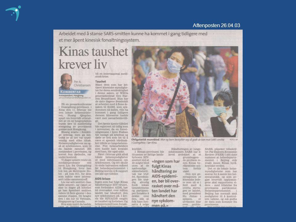 Aftenposten 26.04.03