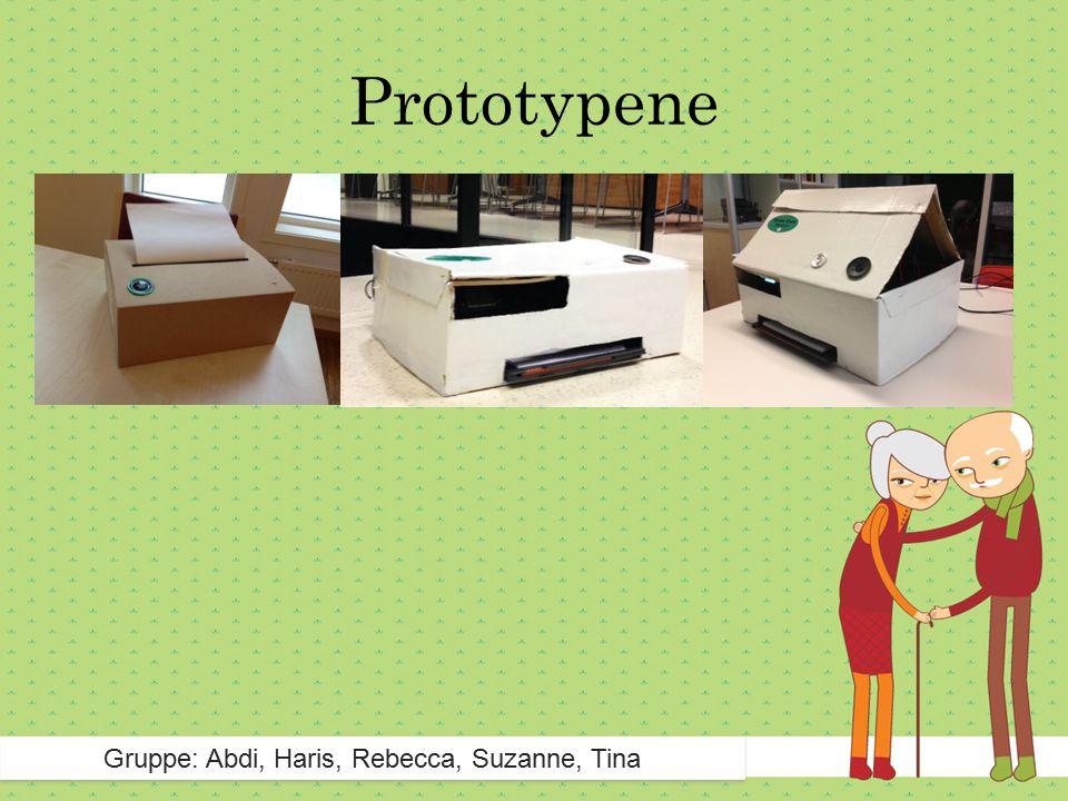 Prototypene Gruppe: Abdi, Haris, Rebecca, Suzanne, Tina