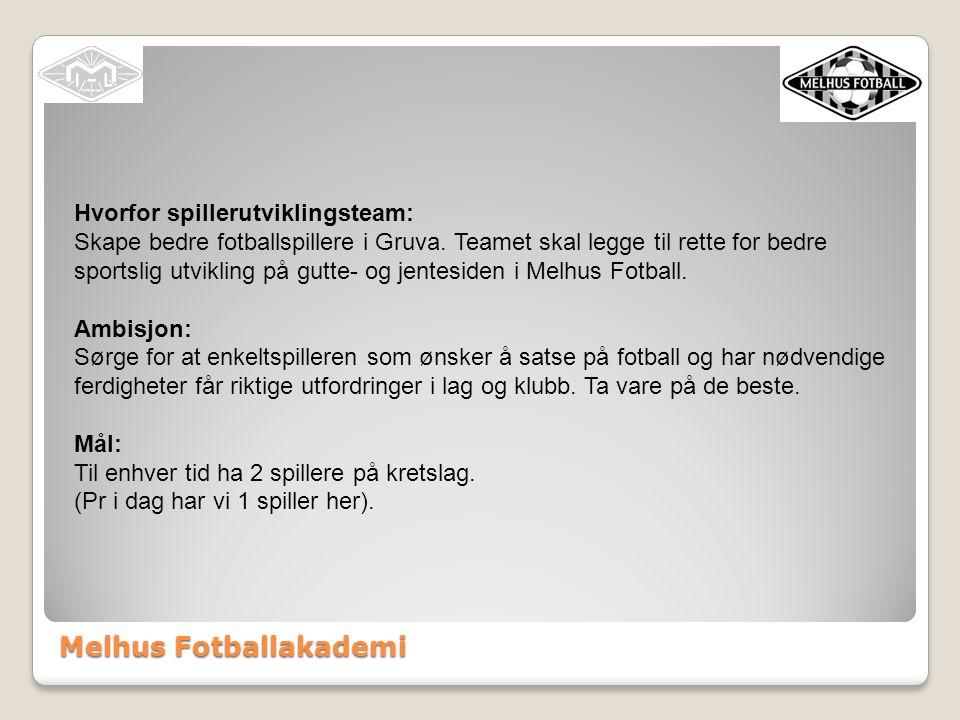 Melhus Fotballakademi Hvorfor spillerutviklingsteam: Skape bedre fotballspillere i Gruva.