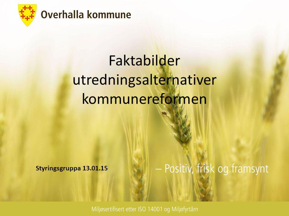 Faktabilder utredningsalternativer kommunereformen Styringsgruppa 13.01.15