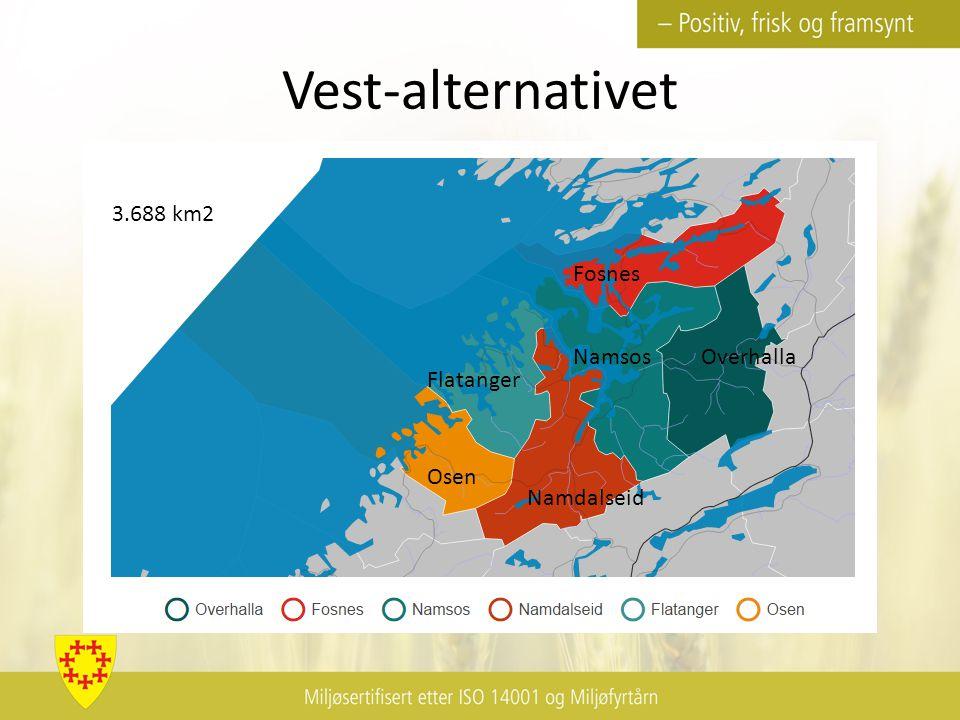Vest-alternativet Osen Flatanger Namdalseid Namsos Fosnes Overhalla 3.688 km2