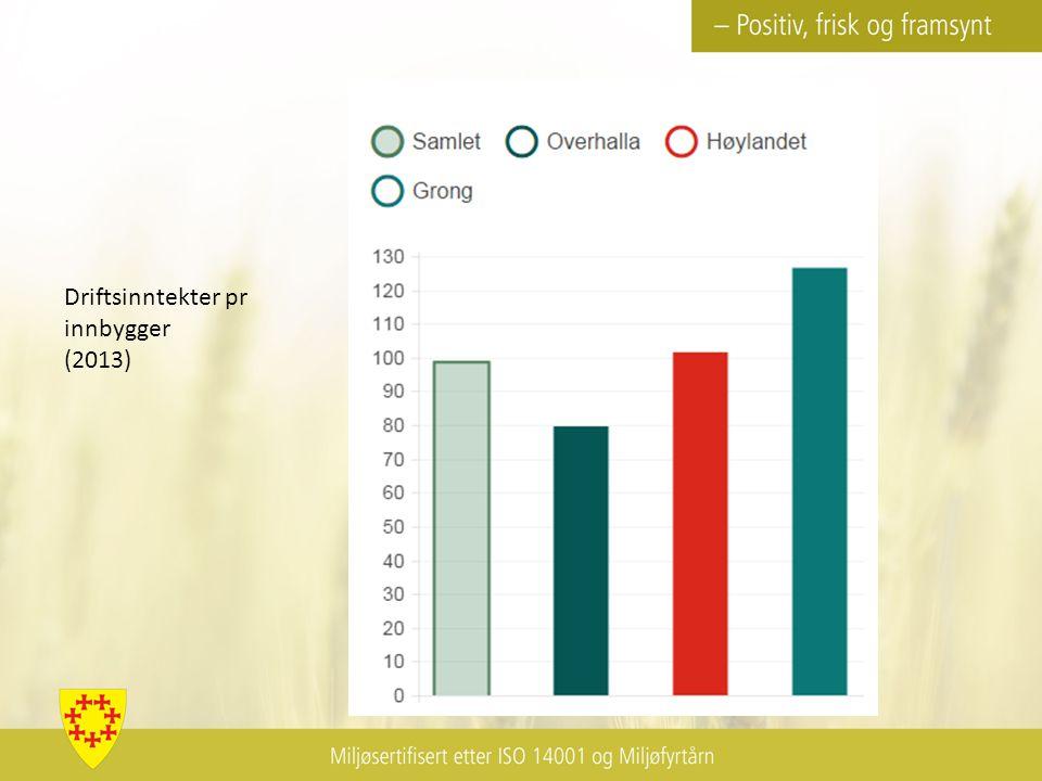 Driftsinntekter pr innbygger (2013)