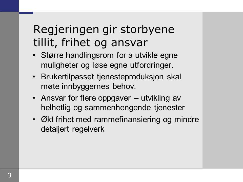 14 Hovedstadsmelding Ved behandlingen av Storbymeldingen ba Stortinget regjeringen legge frem en egen hovedstadmelding.