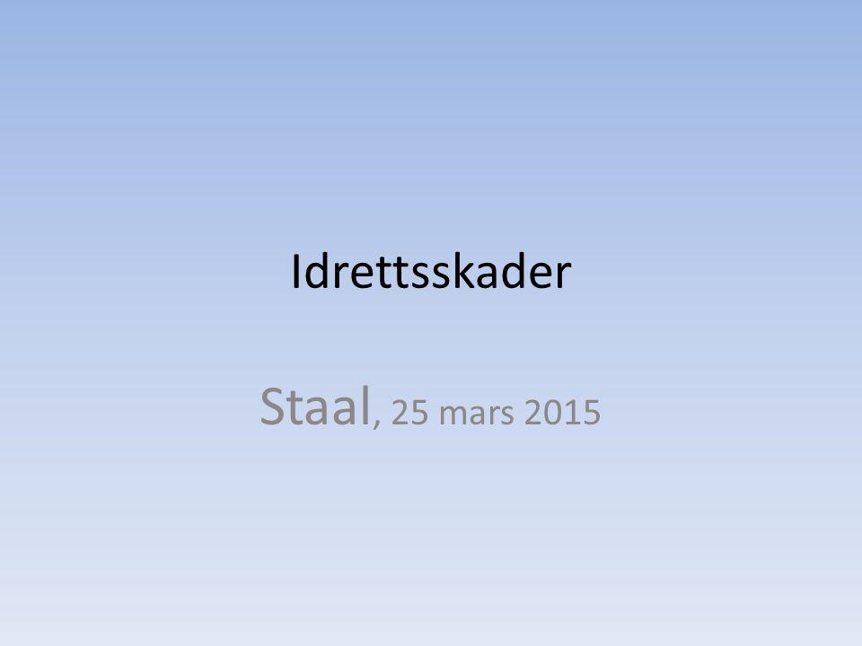 Idrettsskader Staal, 25 mars 2015