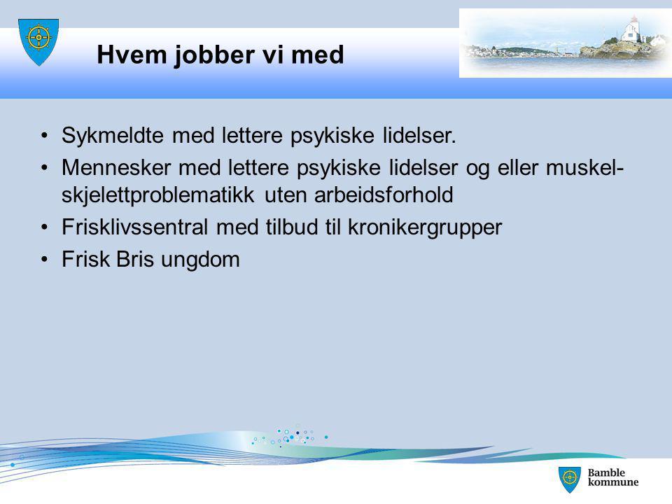 Frisk Bris Samhandlende enhet Vilje til fleksibilitet - bedre resultater for bruker: NAV Sykehuset Kommunen Forankring er nøkkelen.