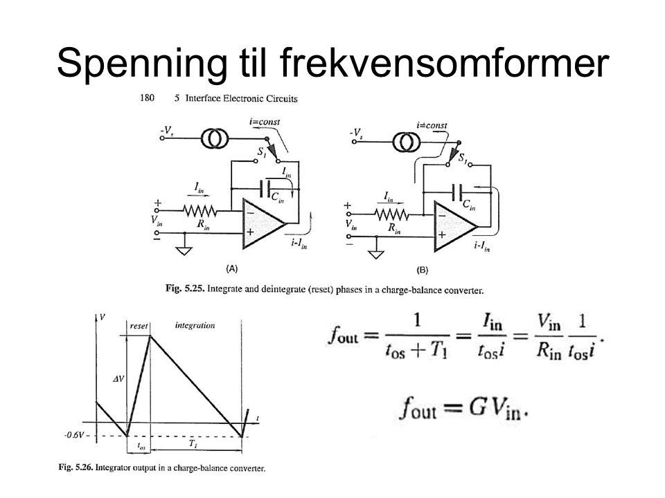 Spenning til frekvensomformer