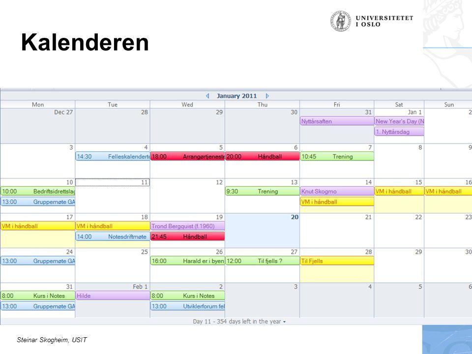 Steinar Skogheim, USIT Hvem kan se kalenderen min?