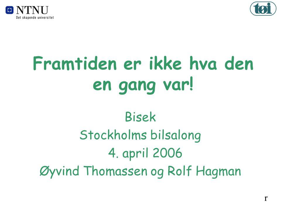 Framtiden er ikke hva den en gang var. Bisek Stockholms bilsalong 4.
