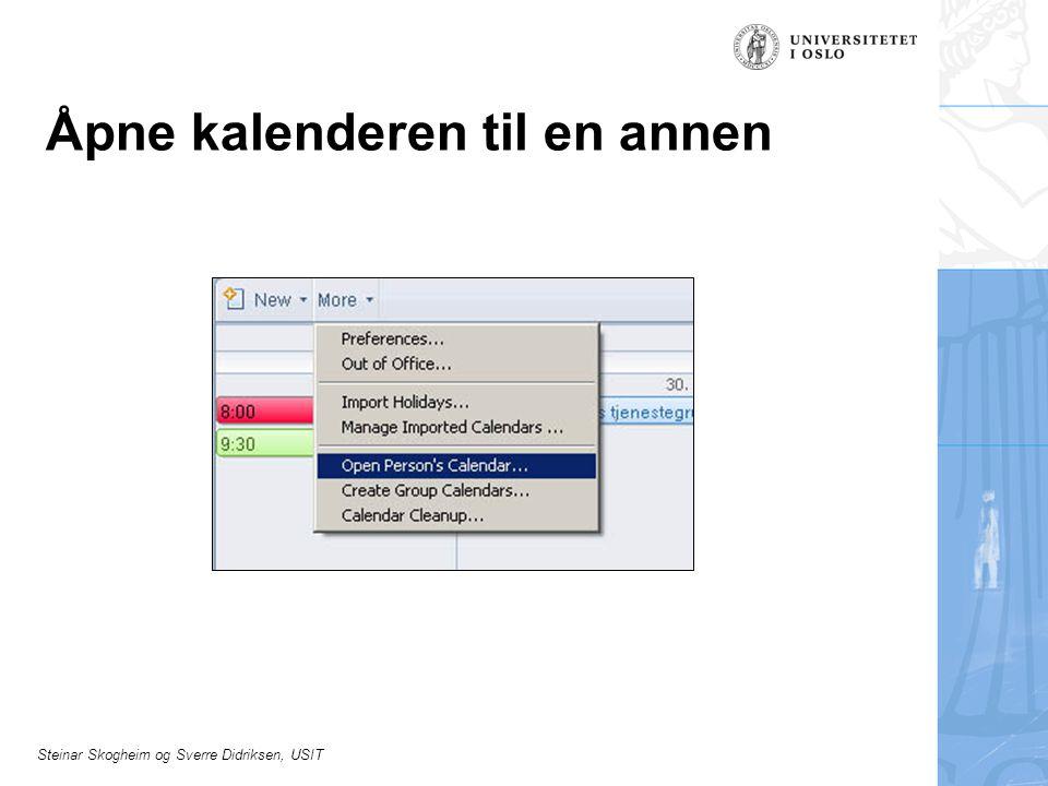Steinar Skogheim og Sverre Didriksen, USIT Åpne kalenderen til en annen