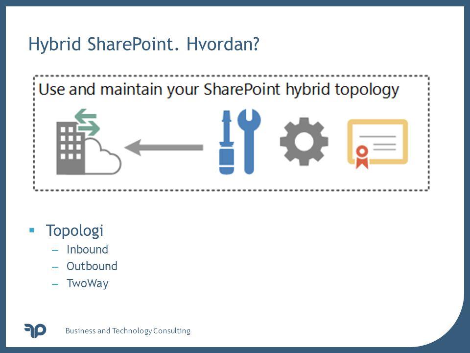 v Hybrid SharePoint. Hvordan.