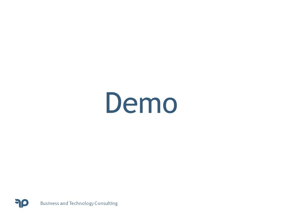 Business and Technology Consulting Demo