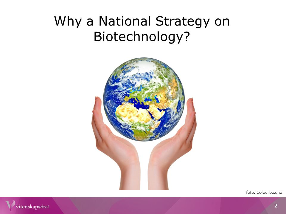 Why a National Strategy on Biotechnology? foto: Colourbox.no 2