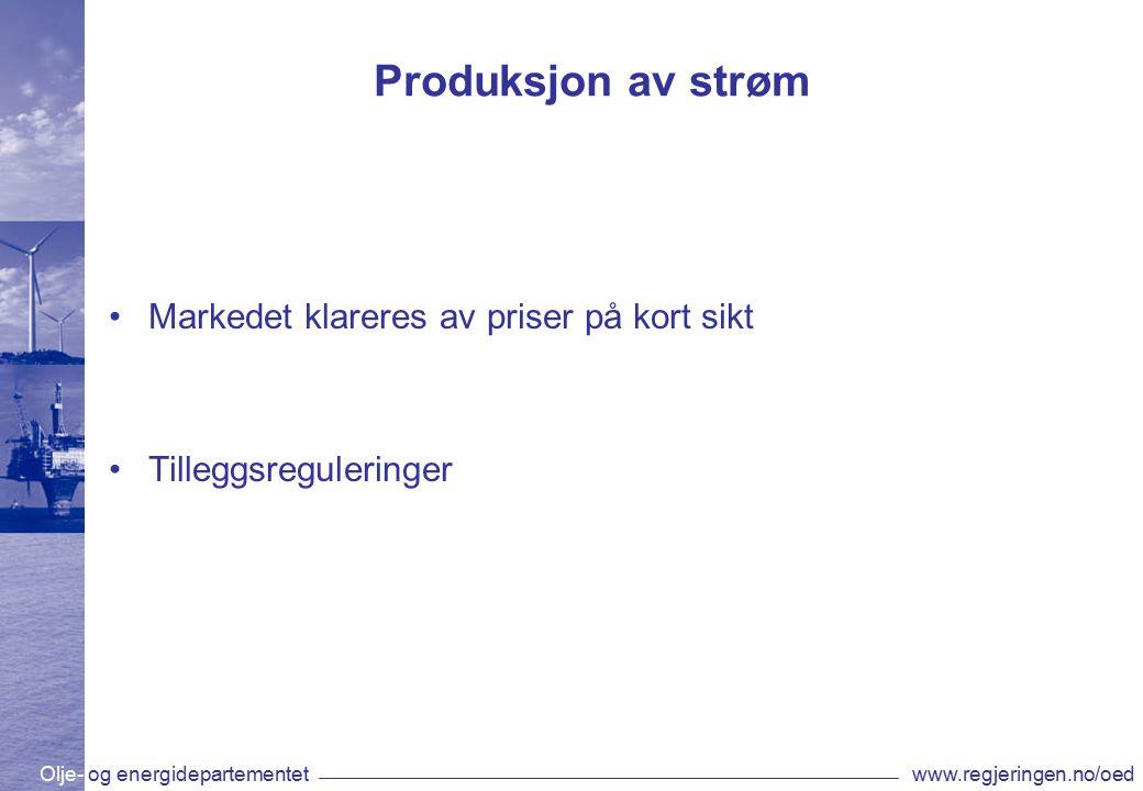 Olje- og energidepartementetwww.regjeringen.no/oed Årlig gjennomsnittspris (systempris) i Norden 1993-2011 øre/kWh
