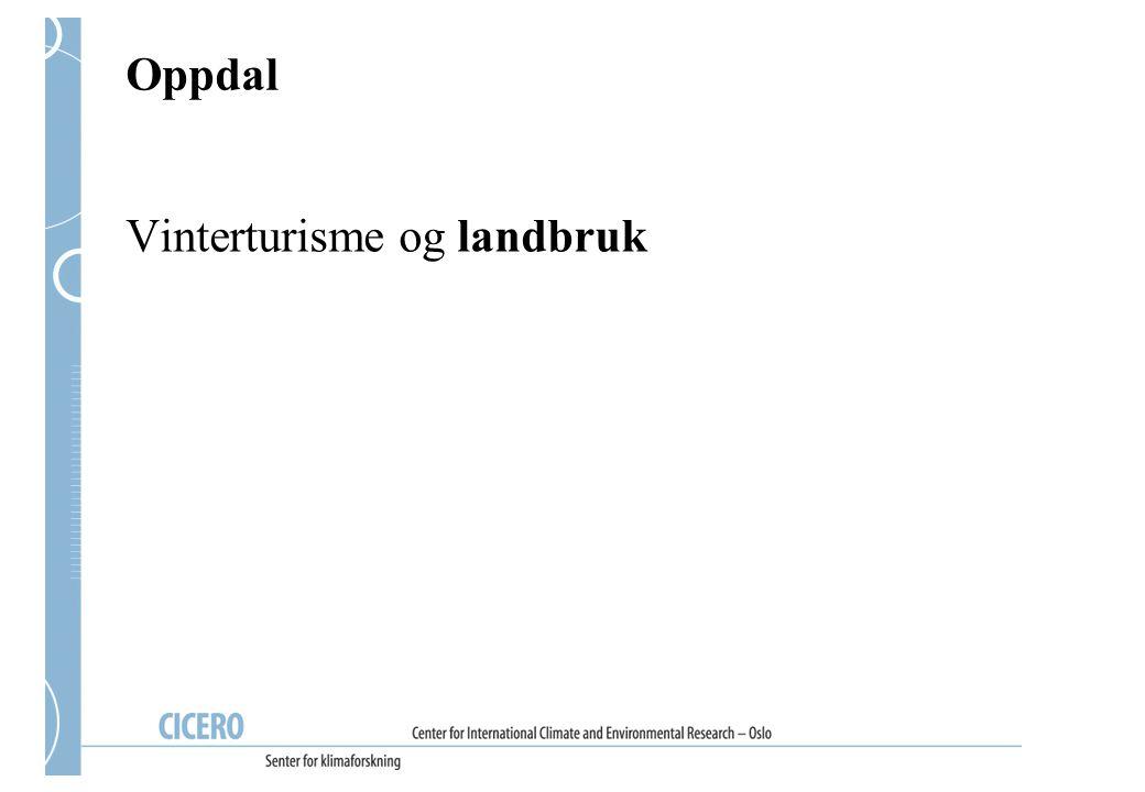 Endring i vindstyrke, Oppdal (RegClim)