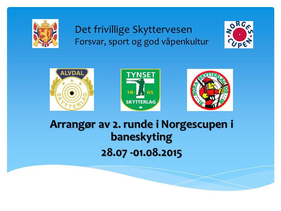  Nest etter Landskytterstevnet, det største skytearrangement i Norge  Foregår samtidig på alle tre arenaer, Alvdal, Tynset og Nora (Os)  Ca.