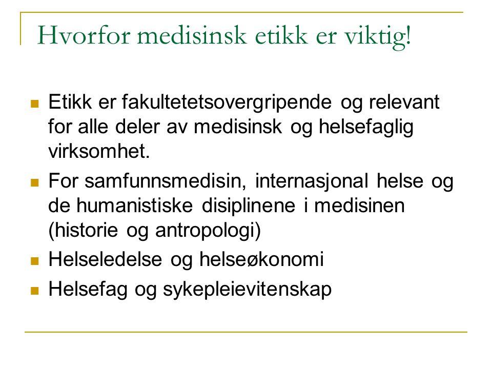 Historikk SME 20 år i oktober 2009 1989- opprettet NAVF i samarbeid med Den norske legeforening og Norsk sykepleierforbund et 5 års forskningsprogram i medisinsk etikk.