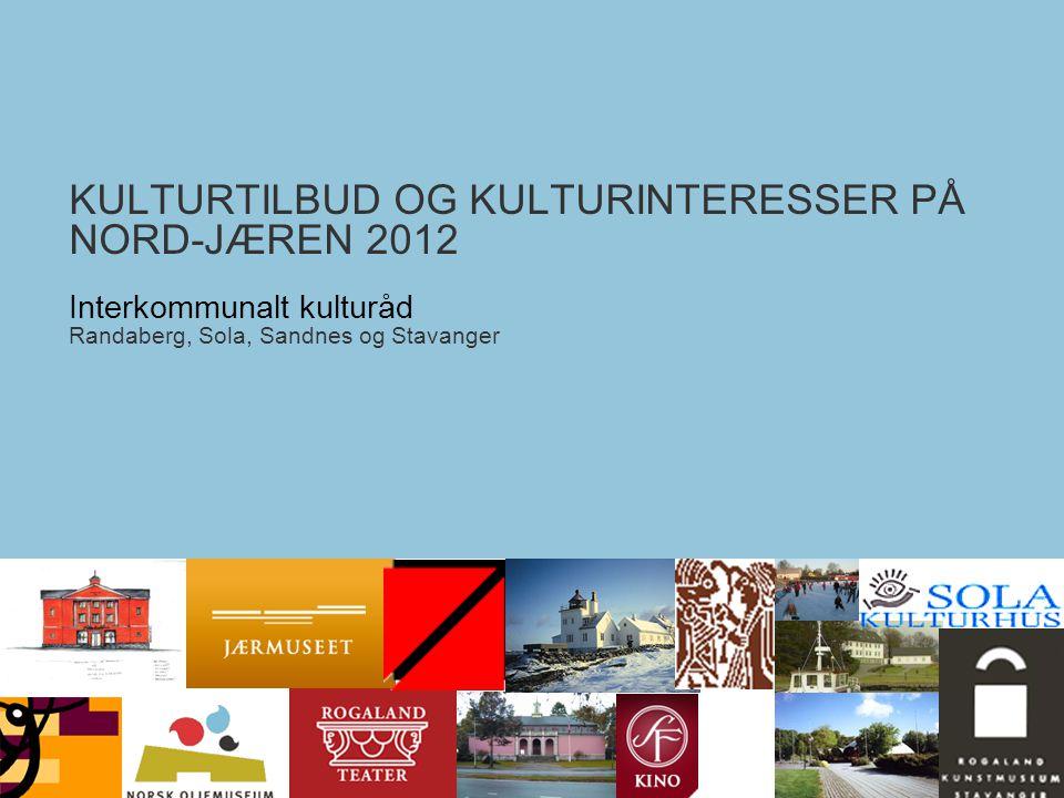 Kulturundersøkelsen for Nord-Jæren 2012Interkommunalt kulturråd - Nord-Jæren