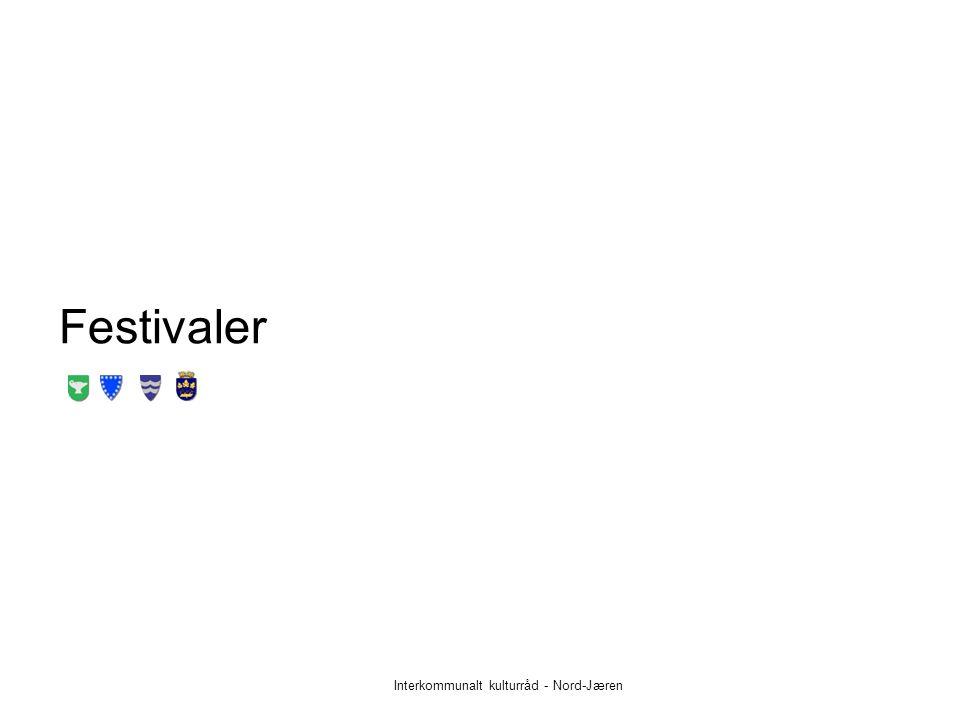 Festivaler Interkommunalt kulturråd - Nord-Jæren