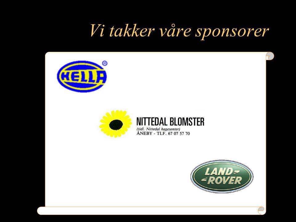 Vi takker våre sponsorer