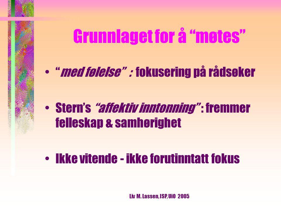 Liv M.Lassen, ISP, UiO 2005 Emilie Kinge (1999, s.