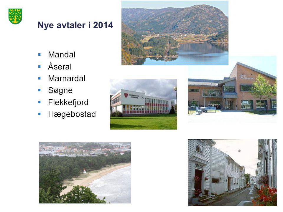 Nye avtaler i 2014  Mandal  Åseral  Marnardal  Søgne  Flekkefjord  Hægebostad