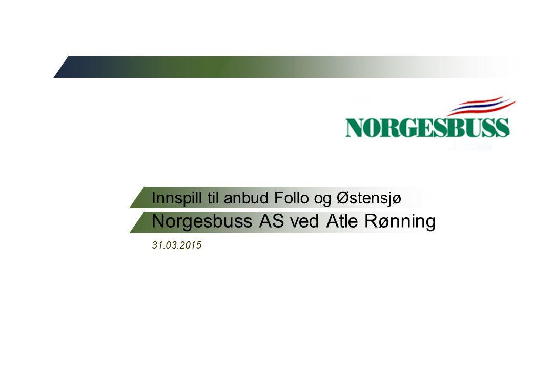 2 Innspill fra Norgesbuss  Anleggsløsning må tydeliggjøres nå.