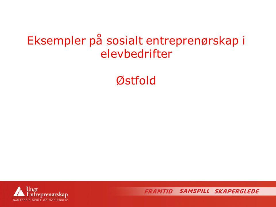Eksempler på sosialt entreprenørskap i elevbedrifter Østfold
