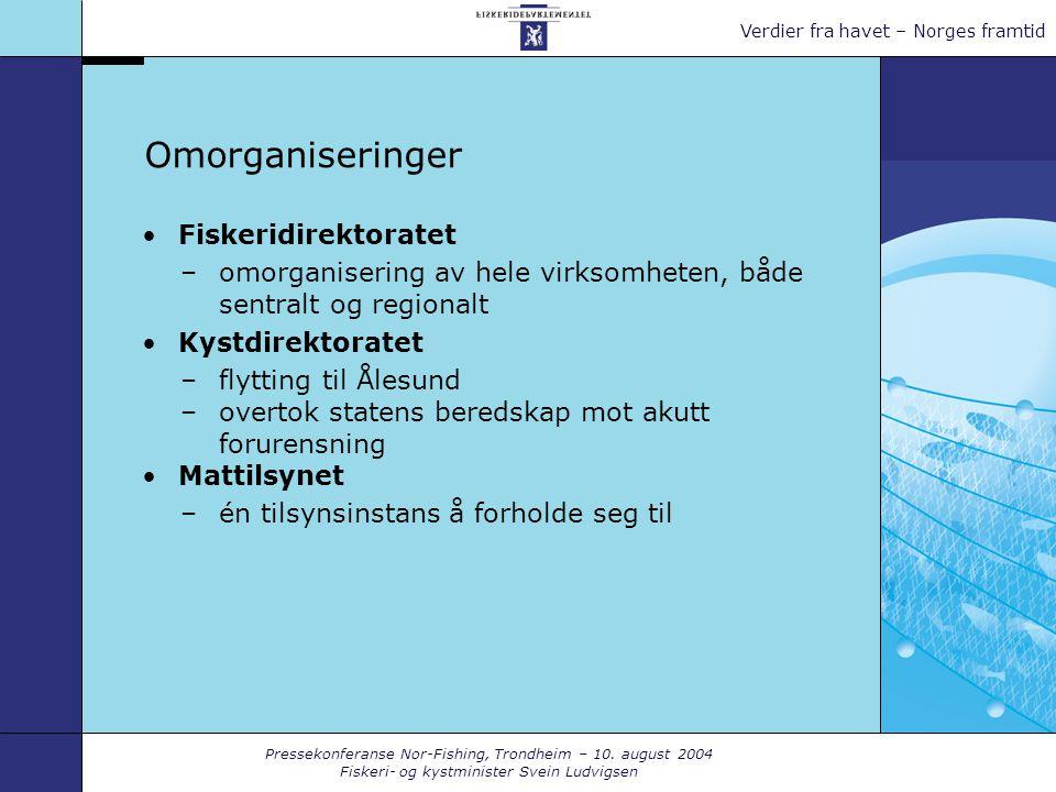 Pressekonferanse Nor-Fishing, Trondheim – 10.