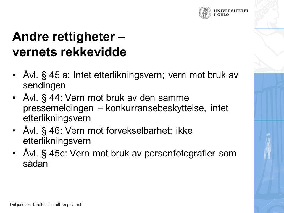 Det juridiske fakultet, Institutt for privatrett Åvl.