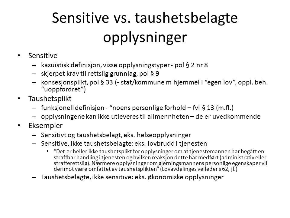 Sensitive vs.