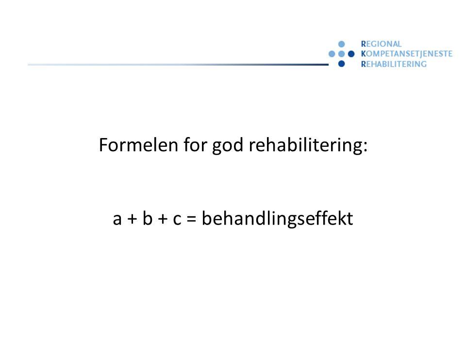 (a) person + (b) sykdom + (c) behandling = behandlingseffekt ? ? ? ? ? ? ? ?